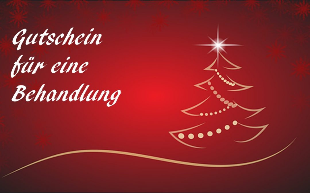 Geschenk Gutschein für Weihnachten, Geburtstage etc.